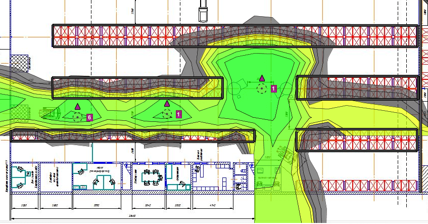 моделирование бесшовного вайфай покрытия на складе