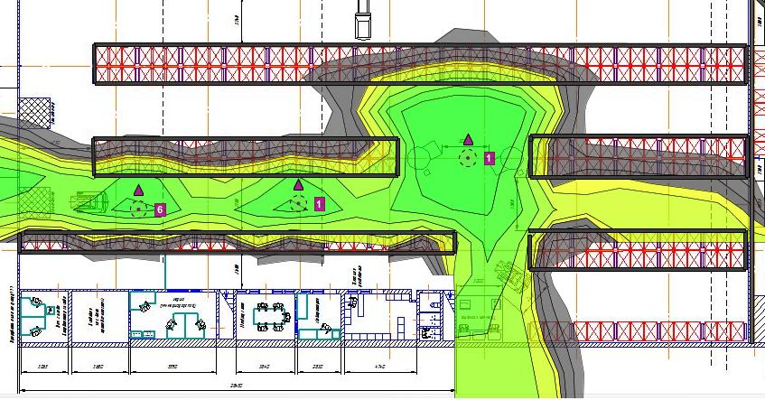 схема зоны вайфай покрытия