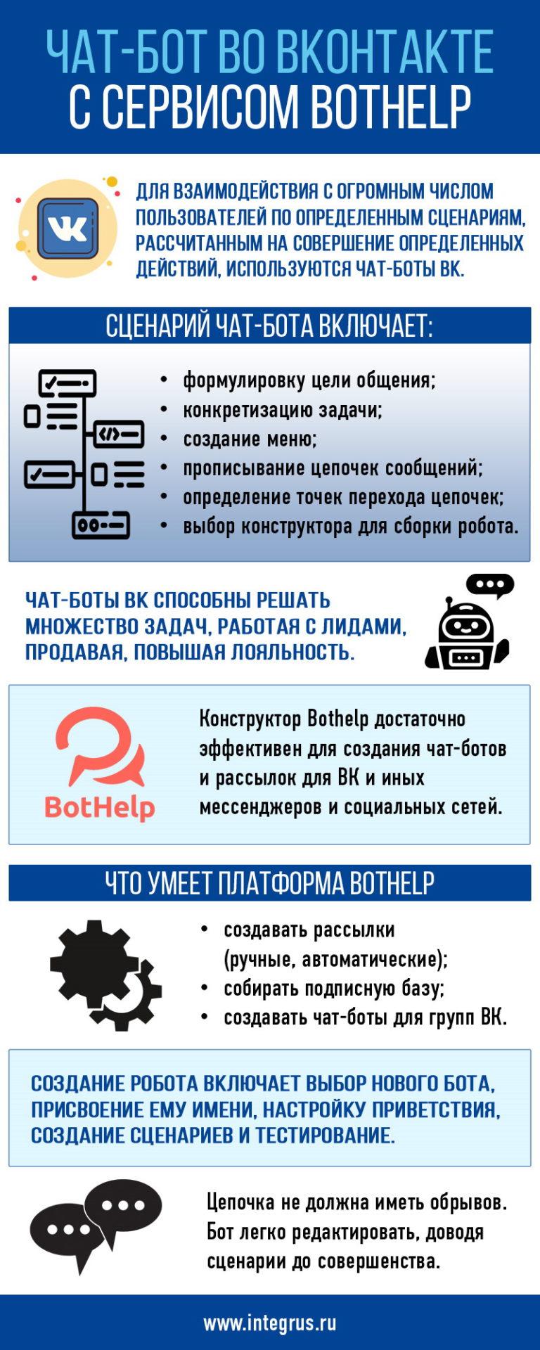 Чат-бот в VK через BotHelp